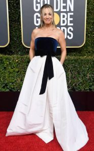 Kaley Cuoco, 2019 Golden Globes, Golden Globe Awards, Red Carpet Fashions