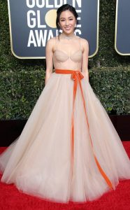 Constance Wu, 2019 Golden Globes, Golden Globe Awards, Red Carpet Fashions